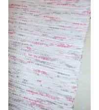 Vászon rongyszőnyeg szürke, rózsaszín 70 x 150 cm