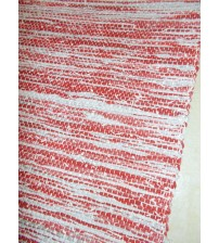 Vászon rongyszőnyeg bordó, szürke 70 x 150 cm