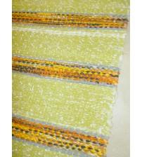 Vászon rongyszőnyeg zöld, sárga 75 x 165 cm