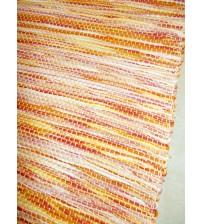 Vászon rongyszőnyeg sárga 70 x 200 cm