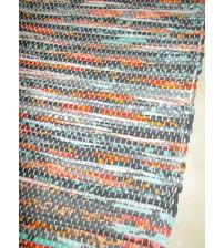 Vászon rongyszőnyeg szürke, piros, kék 70 x 200 cm