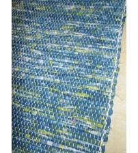 Vászon rongyszőnyeg kék, zöld 70 x 200 cm