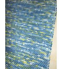 Vászon rongyszőnyeg kék, zöld 70 x 100 cm