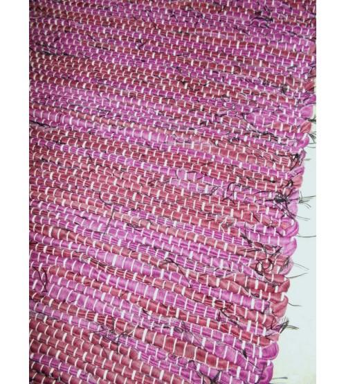 Vászon rongyszőnyeg lila 70 x 200 cm