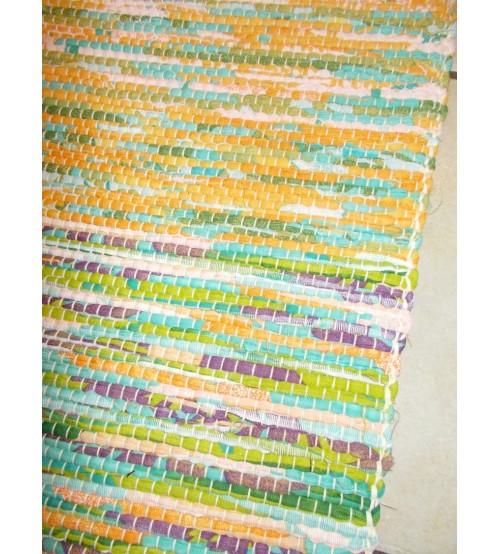 Vászon rongyszőnyeg színes 70 x 200 cm