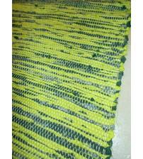 Vászon rongyszőnyeg zöld 145 x 220 cm