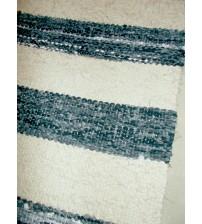 Vászon rongyszőnyeg szürke, nyers 70 x 55 cm
