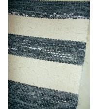 Vászon rongyszőnyeg szürke, nyers 70 x 160 cm