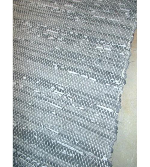 Vászon rongyszőnyeg szürke 155 x 90 cm
