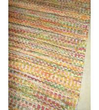 Vászon rongyszőnyeg színes 80 x 110 cm
