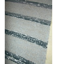 Vászon rongyszőnyeg szürke 80 x 165 cm