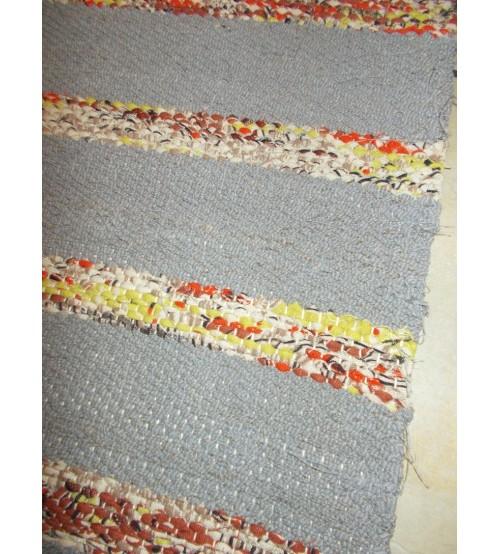 Vászon rongyszőnyeg szürke, barna 70 x 170 cm
