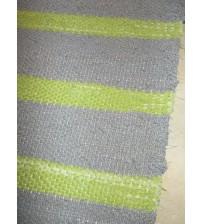 Vászon rongyszőnyeg szürke, zöld 70 x 180 cm