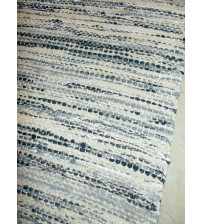 Vászon rongyszőnyeg szürke, fehér, nyers 60 x 150 cm