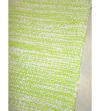 Vászon rongyszőnyeg zöld, nyers 75 x 155 cm