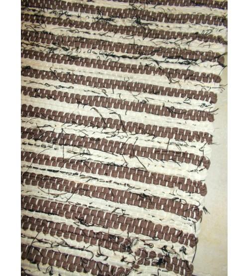 Vászon rongyszőnyeg barna 70 x 150 cm