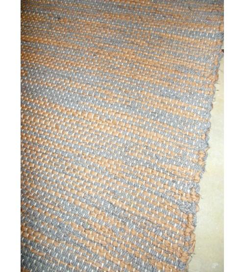 Vászon rongyszőnyeg szürke, barna 70 x 190 cm
