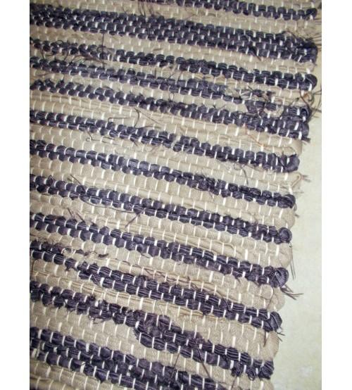 Vászon rongyszőnyeg lila, barna 70 x 100 cm