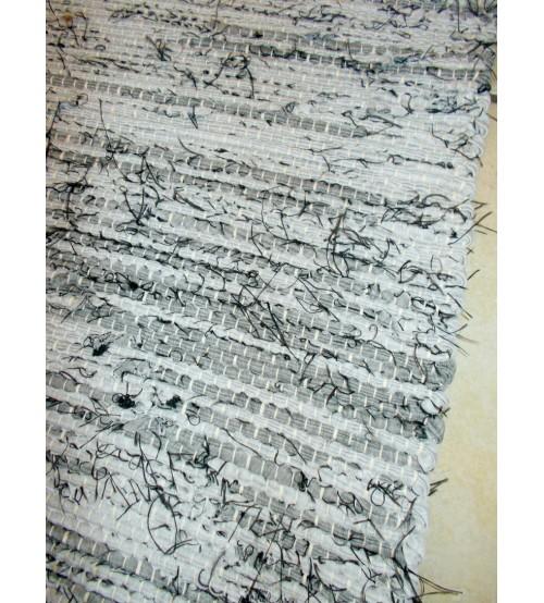 Vászon rongyszőnyeg szürke 70 x 150 cm