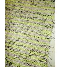 Vászon rongyszőnyeg zöld, barna 70 x 150 cm