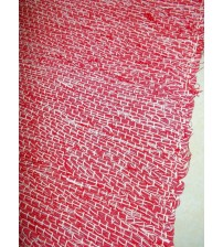 Vászon rongyszőnyeg piros, fehér 70 x 100 cm