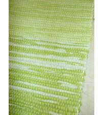 Vászon rongyszőnyeg zöld, fehér 70 x 200 cm