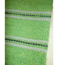 Vászon rongyszőnyeg zöld, szürke 80 x 100 cm
