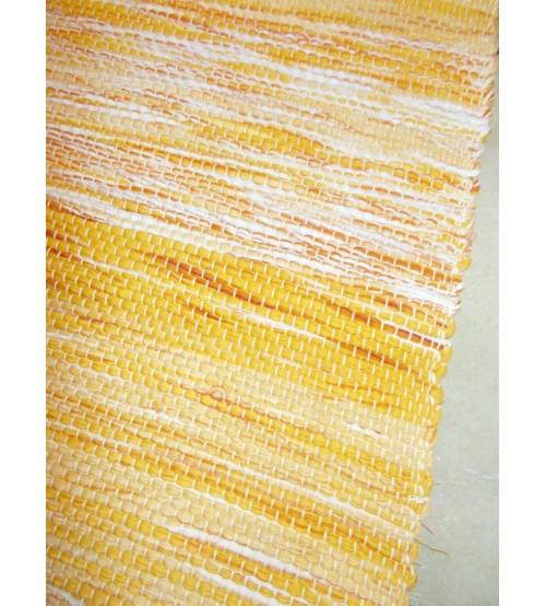 Vászon rongyszőnyeg sárga, fehér 70 x 100 cm