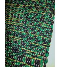 Vászon rongyszőnyeg zöld, fekete 70 x 100 cm