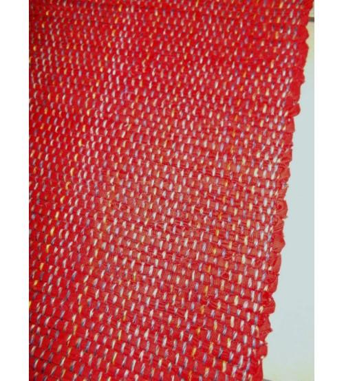 Vászon rongyszőnyeg piros 70 x 100 cm