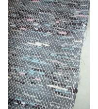 Vászon rongyszőnyeg szürke, rózsaszín, kék 70 x 100 cm