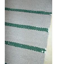Vászon rongyszőnyeg szürke, zöld 75 x 165 cm
