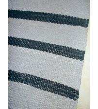 Vászon rongyszőnyeg szürke, fekete 75 x 170 cm