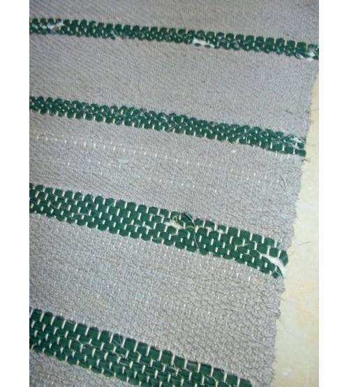 Vászon rongyszőnyeg szürke, zöld 75 x 185 cm