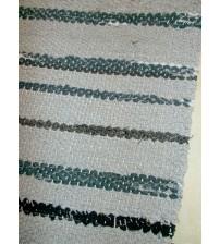 Vászon rongyszőnyeg szürke 75 x 310 cm