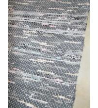 Vászon rongyszőnyeg szürke, rózsaszín, kék 70 x 150 cm