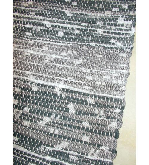 Vászon rongyszőnyeg szürke, fehér 70 x 200 cm