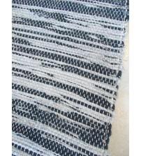 Vászon rongyszőnyeg fekete, fehér 70 x 200 cm