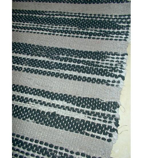 Vászon rongyszőnyeg szürke 75 x 180 cm