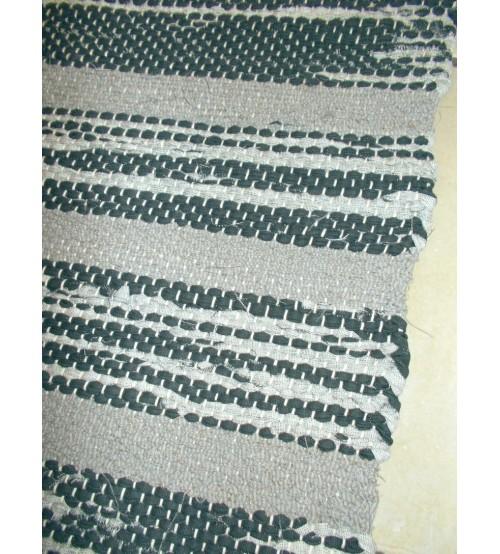 Vászon rongyszőnyeg szürke 75 x 170 cm