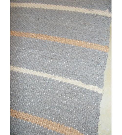 Vászon rongyszőnyeg szürke, barna 70 x 165 cm