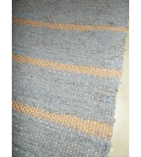 Vászon rongyszőnyeg szürke, barna 75 x 150 cm