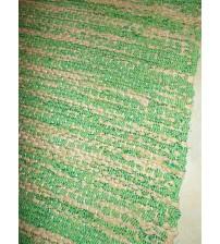 Vászon rongyszőnyeg zöld, barna 75 x 150 cm