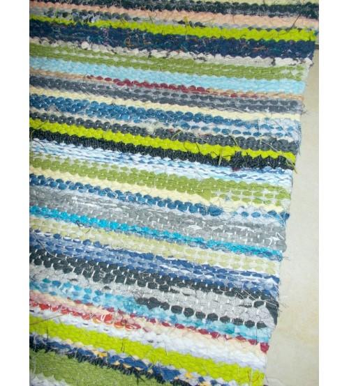 Vászon rongyszőnyeg színes 70 x 160 cm