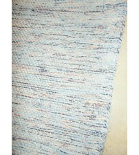 Vászon rongyszőnyeg kék, piros, fekete, fehér 70 x 100 cm