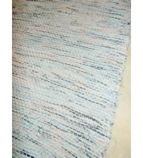 Vászon rongyszőnyeg kék, piros, fekete, fehér 70 x 200 cm