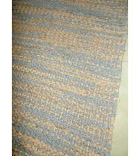Vászon rongyszőnyeg szürke, barna 80 x 195 cm