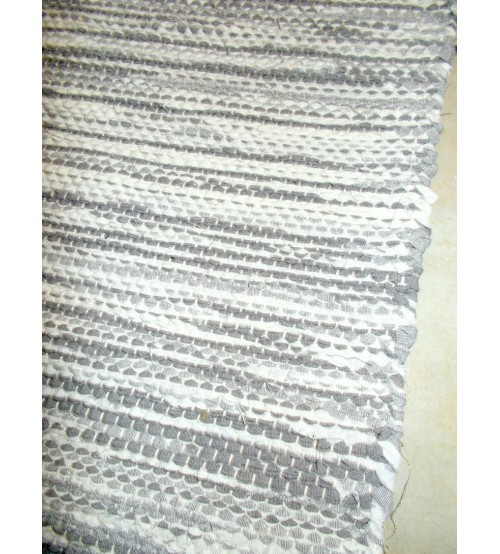 Vászon rongyszőnyeg szürke, nyers 70 x 155 cm