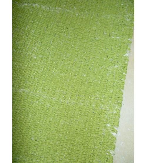 Vászon rongyszőnyeg zöld 55 x 155 cm