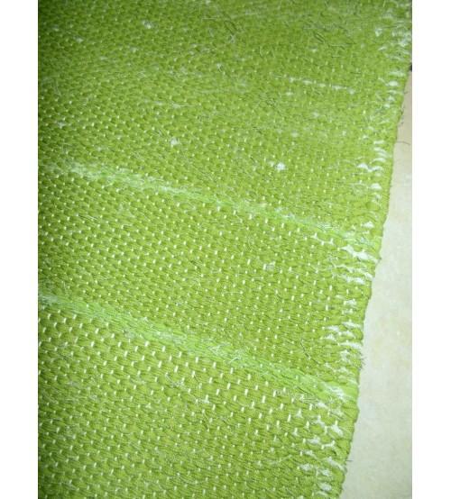 Vászon rongyszőnyeg zöld 70 x 205 cm